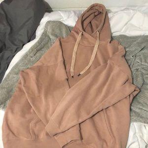 Aerie from American Eagle pink/brown color hoodie